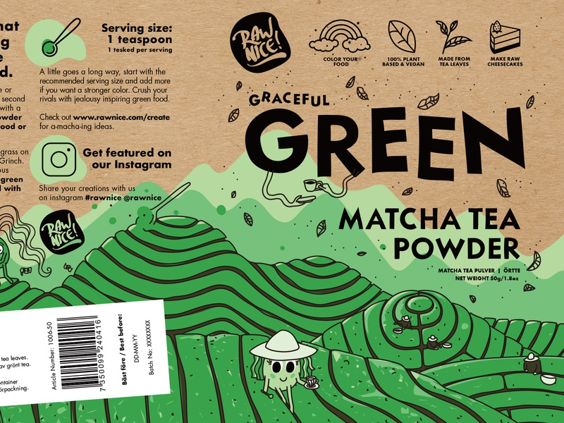 Graceful Green Matcha Packaging