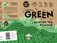 Graceful Green Matcha Packaging digital illustration illustration design identity branding identity design brand design branding print design layout package design packaging design