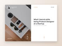 Personal Blog Website Concept