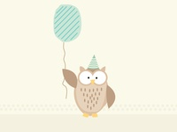 Owl drawing for an invite