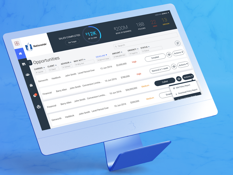 Insuring a Better UX for Insurance Agents banks visual design user experience ux ui platform agents life insurance policy insurance
