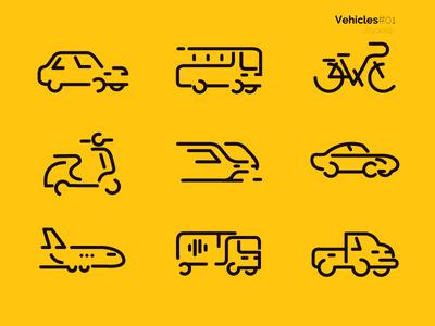 Vehicle Icon set 01