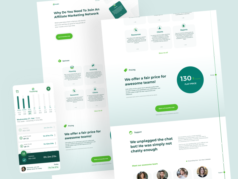Planic Web & App flatdesign branding ui  ux app designer sketch ui appdesign project management tool