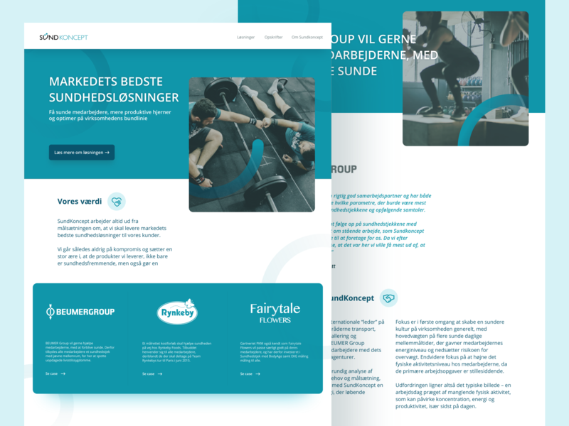 Sundkoncept Web webdesign clean ui branding flatdesign