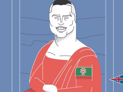 CR7 as Mona Lisa ronaldo cristiano cr7 sport soccer football illustration