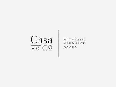 Casa And Co Logo By Third West Studio