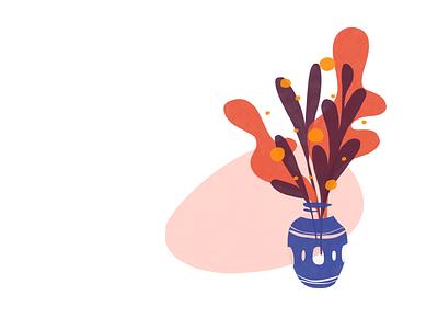 Warm Home lifestyle home plant ui design illustrator vector illustration