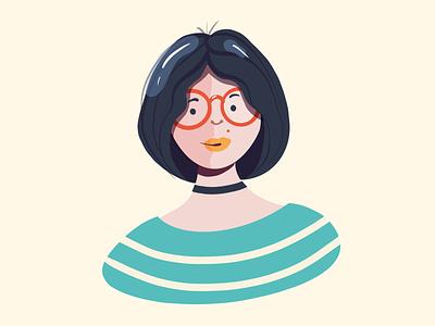 Portrait - Mags 2danimation head portrait girl character ui vector illustrator illustration