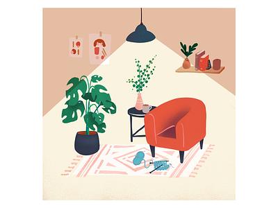 Short Days hygge cosy fall autumn lifestyle living home interior design vector illustrator illustration