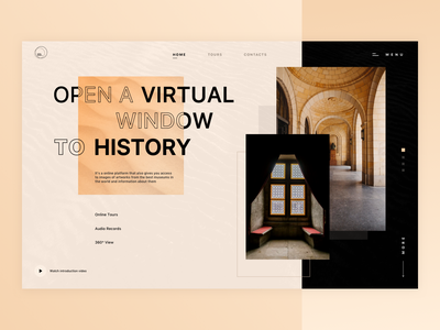 m. | Museums & Galleries Online Platform typography homepage home artwork images online platform online history art gallery museum creative simple minimal logo app web ui design