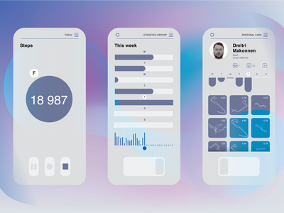 App for waling in my shoes app ui uix design graphic design