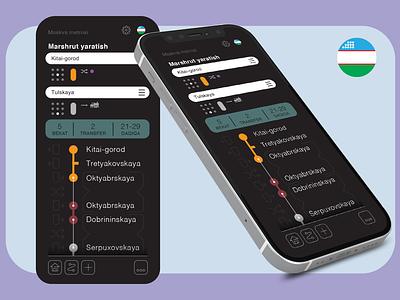 Moscow Metro app ui uix graphic design metor map