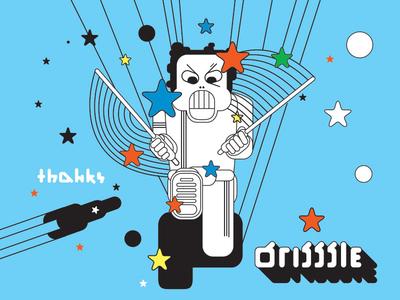 Dribbble Debut! debut illustration thanks