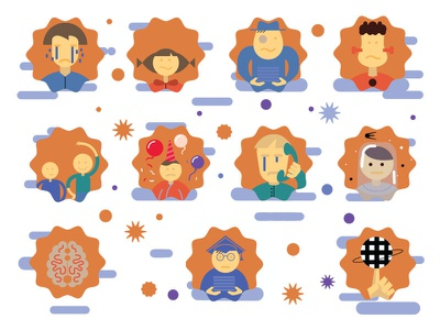 characters icons illustration icon