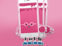 Dribbble IPhone Stickers