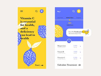 Lemon Tree flat website colour palette web  design ui mobile app design mobile design mobile ui mobile typography ux web