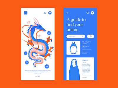 The Ultimate Anime Filler Guide illustration anime colour palette typography mobile app design mobile design mobile ui mobile app mobile ui ux website web  design