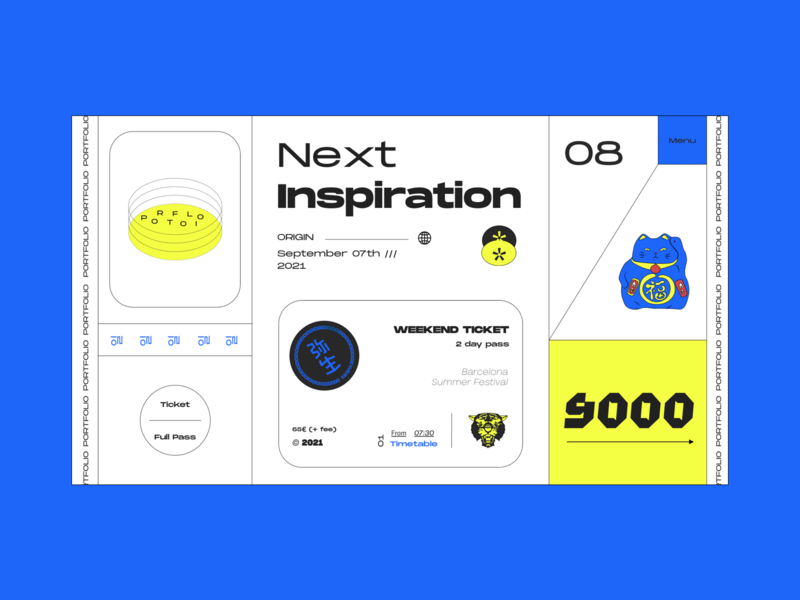 Inspiration Weekend 2020 illustration web  design brutalism tokyo colour palette dribbble poster design website web typography ux ui