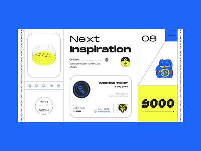 Inspiration Weekend 2020 illustration web  design brutalism tokyo colour palette dribbble poster design website web typography ux ui