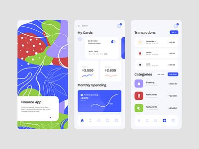 Mobile Finance App illustration banking app banking finance mobile ui mobile app design mobile design mobile app mobile website web typography ux ui