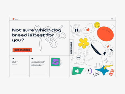 Dog Breed Selector// illustration web  design