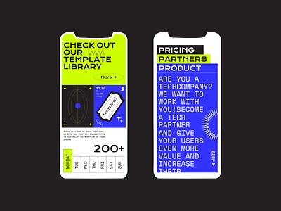 Weekend typography web  design mobile