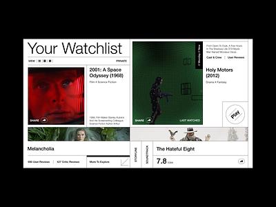 Your Watchlist branding graphic design illustration colour palette ui design typography film website web  design
