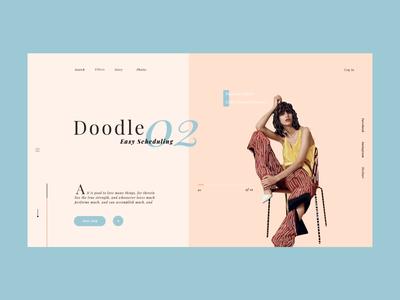 Doodle ui fashion flower minimal food website web  design type icon vector art colour palette typography motion animation illustration web ux flat design