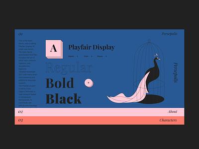 Playfair Display newspaper illustrator illustraion motion design font design font typography motion design web  design website web ui ux flat