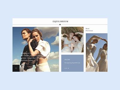 Equilibrium motion design colour palette web  design web typography flat website ui ux