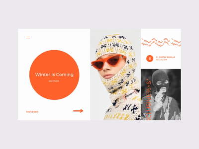 WINTER%^$# fashion minimal ui  ux uidesign webdesign typography motion graphic motion design web motion website ui ux