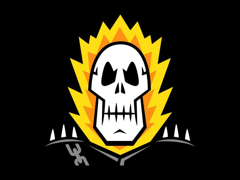 Ghost Rider design illustration skulls ghost rider marvel
