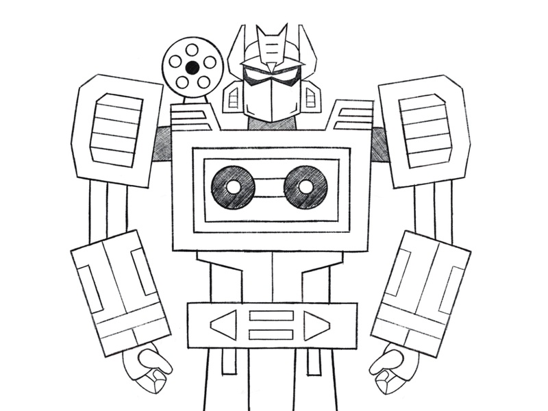 Soundwave sketch doodle design drawing robots sketch procreate illustration soundwave transformers