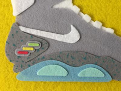 Back to the Future Nike Mag Felt design