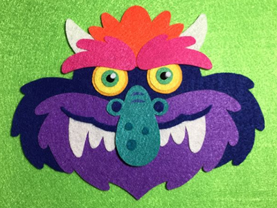 My Pet Monster Felt Piece my pet monster crafting felt design