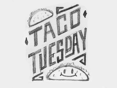 Taco Tuesday Doodle taco sketch doodle