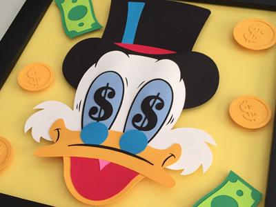 Scrooge Mcduck Paper Art paper art ducktales illustration