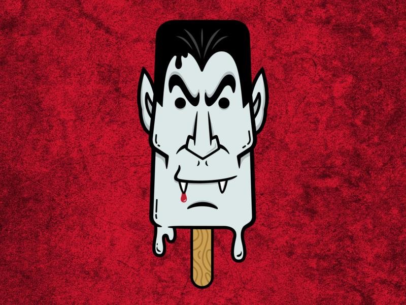 Vampsicle vampire popsicle illustration digital design