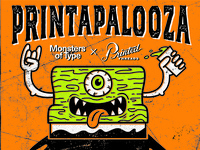 Printapalooza  Monsters of Type & Printed Threads