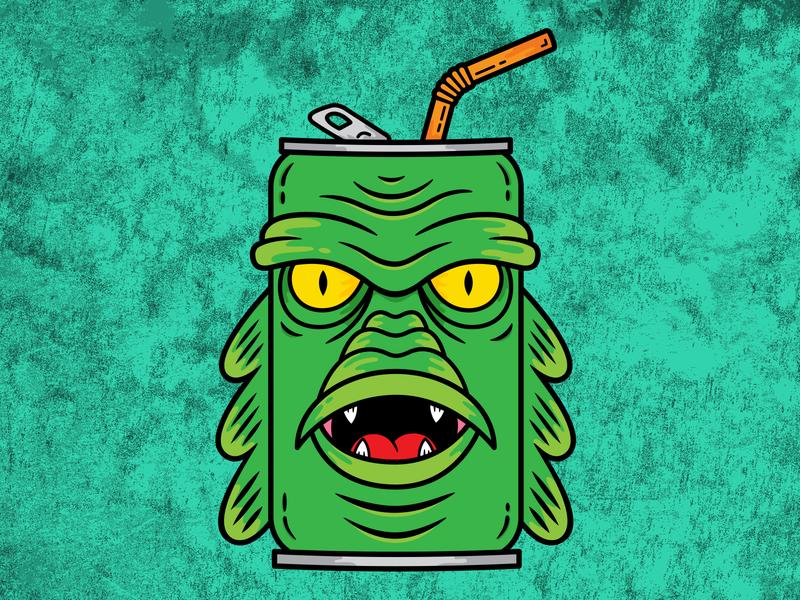 Creature Can monster creature vector design illustration