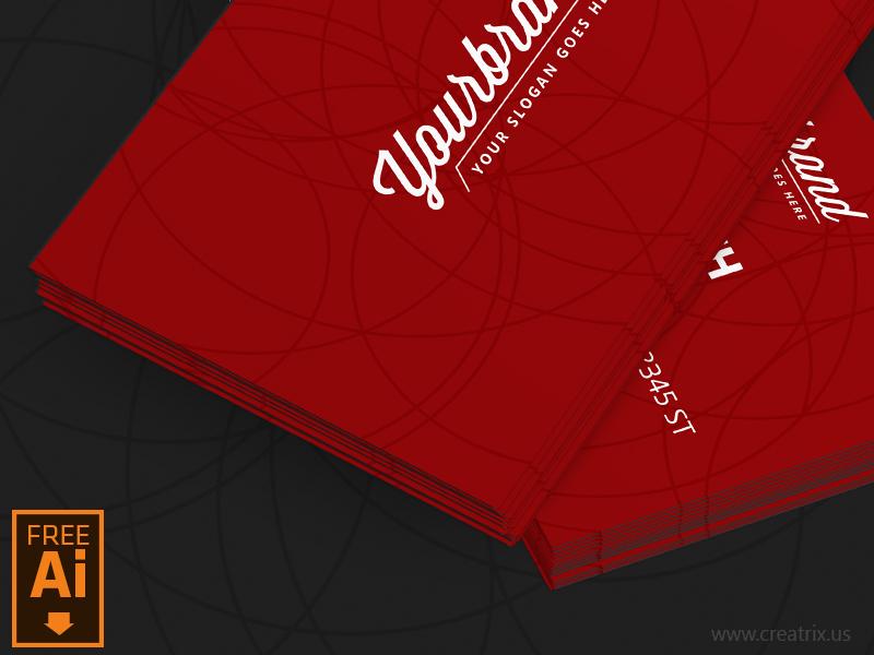 Free Business Card Template Ai File By Mamun Srizon Dribbble