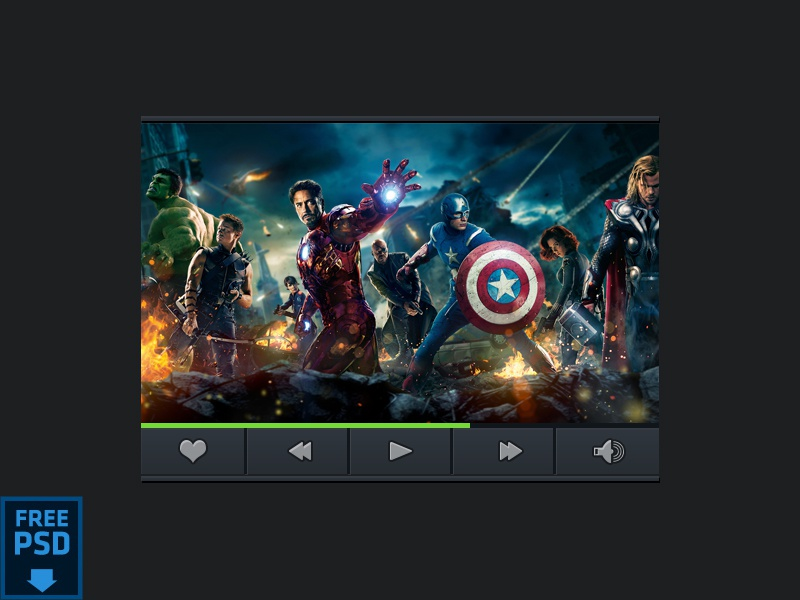 Another Video Player [Free PSD] app design ui ux vidoe player widget freebies