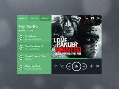 Flat Audio Player Design