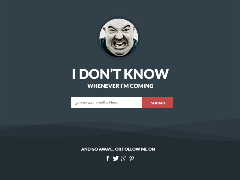 Flat Coming Soon Page [Free PSD] free flat coming soon landing page ui webpage freebies