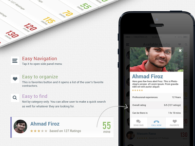 Contractor finder iOS7 App Design