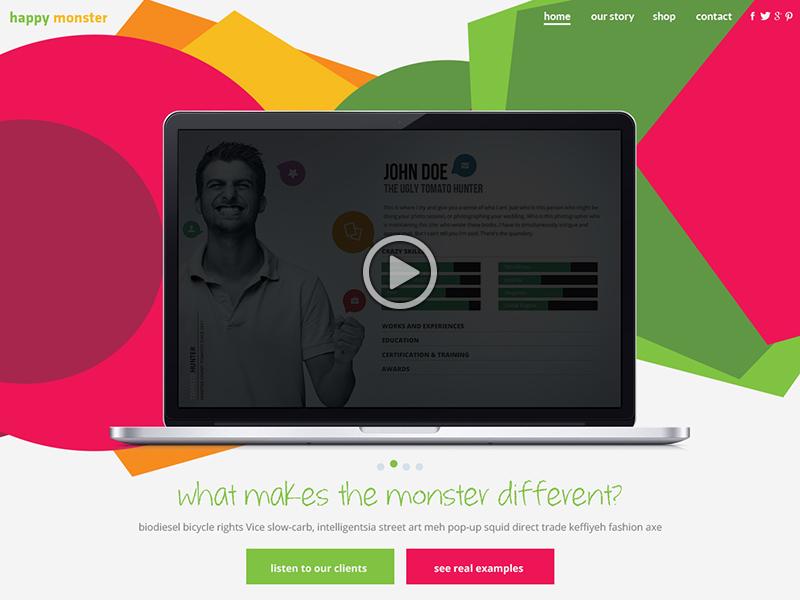 Homepage design idea