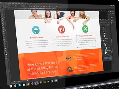 Social monitoring website design
