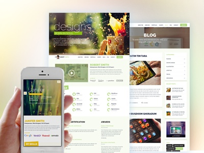 Responsive Resume Template Design