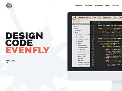 Minimal Homepage design
