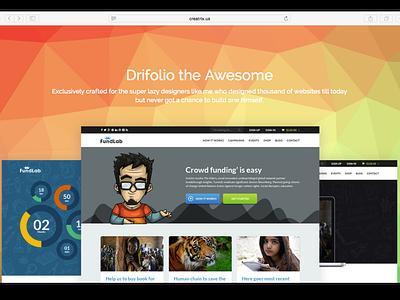 Drifolio – Free Responsive Dribbble Portfolio Template freebies dribbble api dribbble free html bootstrap portfolio freebie ui ux web design
